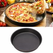 New Round Dish Deep Pizza Pan Non-stick Pie Tray Baking Kitchen Tool 22cm Steel