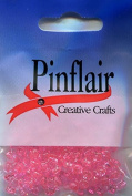 Pinflair Tri Beads - Pink, 10mm approx, pack of approx 10g