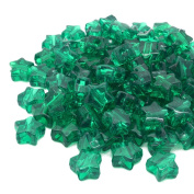 Beads Unlimited Transparent Plastic Star Pony, Green, 13 mm