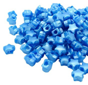 Beads Unlimited Bath Pearl Plastic Star Pony, Royal Blue, 13 mm