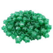 Beads Unlimited Glitter Plastic Star Pony, Green, 13 mm