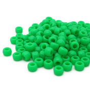Beads Unlimited Neon Plastic Barrel Pony, Lime Green, 6 x 8 mm
