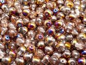 50pcs Czech Pressed Glass Beads Round 6mm, Crystal Sliperit