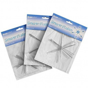 Metal Wire Snowflake Form - Fun Beading Project Three Size Kit (21 Snowflakes) Bling my shoes UK00003085705 Trademark...