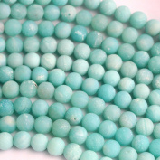 Natural Genuine Amazonite Unpolished Matte Round Real Gemstone Jewellery Making Loose Beads (6mm) by fashiontrend-us