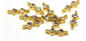 10 Pc. Accessory Rhinestone Chain Connector with 3 Punch 0147, goldfarbig