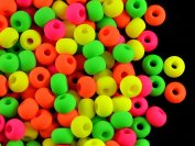 40 pcs Czech Glass Beads ESTRELA NEON (UV Active) Bagel 5,5 mm Mix Warm