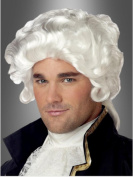 Wig men short white Curly wavy Carnival Carnival Baroque Middle Ages