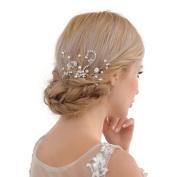 THK-Wedding Bridal Hairpiece Bridal Hair accessories Pearl Wedding Hair Vine Flowers Leaves Headband Bridesmaids Hair Crystals Rhinestone Bridal Hair Clip Comb