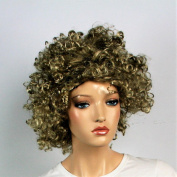 Wig women short blonde Curly Carnival Carnival 80's party