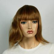 Wig women shoulder-length tan Bangs Straight Carnival Carnival