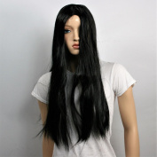Wig women long black Curly Carnival Carnival 80's party