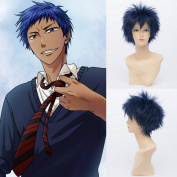 QIYUN.Z Men's Short Cool High Quality Heat Resistant Fibre Wig Aomine Daiki Cosplay Anime Costume Wig Party Wigs Hair Full Wigs