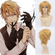 QIYUN.Z Men's Short Cool High Quality Heat Resistant Fibre Wig Cosplay Anime Costume Wig Party Wigs