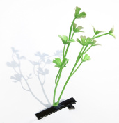 Set of 4 Natural White Flowering Herb Flower Clip Antenna Clips Hairpin Aerials Sprout Plant, Cool Trend Hair Clip, Fashion Trend Asia Funny Green Clip Hair Clip to Carnival, Trendy Green Plants Gift, Hair Accessories, Hair Claw Clips, Fashion Trend