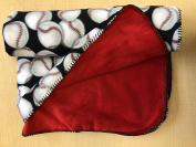 Baseball Double-Layered Fleece Throw Blanket with Finished Edges Sports