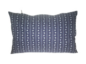 New Womax Swiss Pine Cushion 20 x 30 cm Dark Blue with White and Blue Flower Pattern Zipper Collection with Swiss Pine Shavings Of 2018 Tiroler Pinewood, Washable, Refillable Ökotex 100