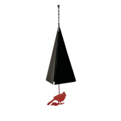 North Country Wind Bells, Inc. Original and Authentic Maine Boothbay Harbour Wind Bell with Cardinal Windcatcher