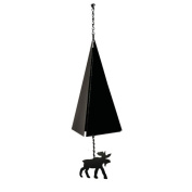 North Country Wind Bells, Inc. Original and Authentic Maine Boothbay Harbour Wind Bell with Moose Windcatcher