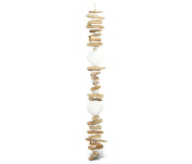 Nautical Decor Scallop Shell Driftwood Drop Wind Chime 90cm