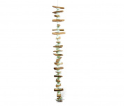 Nautical Decor Green Arca Shell Driftwood Wind Chime 90cm