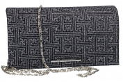 Purse woman ROMEO GIGLI pochette black for ceremonies VN1345