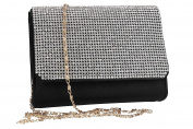 Purse woman ROMEO GIGLI pochette black for ceremonies with strass VN1340