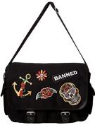 Banned Apparel Amulet Rockabilly Sugar Skull Shoulder Bag Black