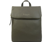 Assots 'MERLIN' Genuine leather Flap Over lightweight Backpack