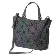 HotOne Shard Lattice Design Geometric Bag PU Leather unique purses and Handbags