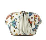 Redfox Women's Mini Butterfly Floral Print Tassel Shoulder Bag Purse 18.5cm x 12.5cm x 8cm