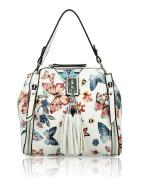 Redfox Women's Small Floral Butterfly Print Tassel Shoulder Bag 20cmx19cmx10cm