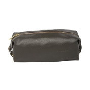 BagsRUs Brown Faux Leather 3 Litre Travel Toiletry Bag for Men and Women