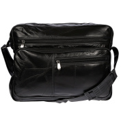 Christian Wippermann® Men's Shoulder Bag Black black 37x30x10 cm