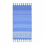 Animal Mira Woven Beach Blanket - Dusty Blue