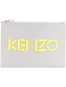 Kenzo Men's F855PM502L4694 Grey Leather Clutch