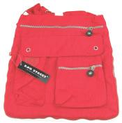 NB24 Shipping Bag Street Women's Shoulder Bag Cross Body Bag Handbag (2221), Red) – Shoulder Bag, Evening Bag, 32 x 2.5 x 31 cm with Zip