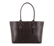 Wittchen Elegance leather bag | Colour: Dark brown | Material: Grain leather | Height (cm): 27 - Width (cm)