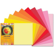 Pacon Tru-Ray Heavyweight Construction Paper - 46cm x 30cm - Festive Red, Gold, Holiday Red, Light Red, Light Yellow, Orange, Pink, Pumpkin, Shocking Pink, Yellow