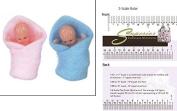 Dollhouse Miniature Babies In Blanket