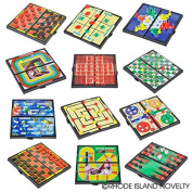 """Magnetic Travel Games Set Includes 12 Fun Games 5"""" Individually Boxed Great for Road Trip Travel Gift for Kids Ages 6+"""