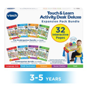 VTech Touch and Learn Activity Desk Deluxe 4-in-1 Preschool Bundle Expansion Pack II for Age 3-5