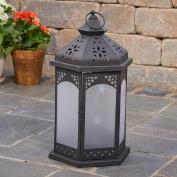 Smart Design Baltimore Lantern with White LED Lighting