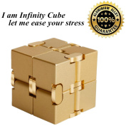 Solid Aluminium Alloy Material Fidget Toy in Style With Infinity Cube Pressure Reduction Toy, Infinity Turn Spin Cube Edc Fidgeting for ADD, ADHD, Anxiety, and Autism Adult and Children.