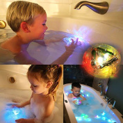 OWIKAR Bath LED Light Toys, Party in the Tub Durable Floating Toy Bath Water LED Light Kids Waterproof Children Handheld Flashlights for Baby Boys and Girls Toddler