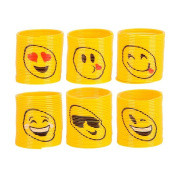 Emoji Coil Springs Toy, For Birthday Party Favours