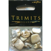 Trimits Beads - Deluxe Shells Polished - Oyster