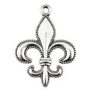 NEWME 25pcs 28x20mm fleur de lis Charms Pendant For DIY Jewellery Making Wholesale Crafting Handmade Bracelet Necklace Key Chain Bag Accessories