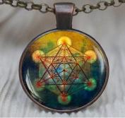 Metatron's Cube Pendant, Sacred Geometry Jewellery, Metatrons Cube, Geometric Necklace, Jewellery