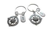 BFF friendship keychain,Two Compass keychain, Best Friends Keychai, Holiday Gift ,Gift For Friends, Best Friends Forever